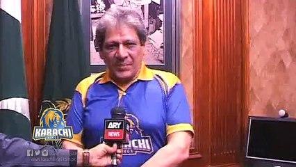 Dr Ishrat-ul-Ibad Khan supporting Karachi Kings in HBLPSL.