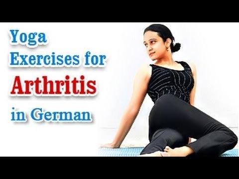 Yoga Exercises for Arthritis - Knee Pain, Backpain Treatment & Diet Tips in German