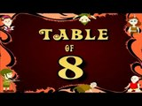 Learn 8x Table | Learn EIGHT Multiplication Tables For Kids | Fun And Learn Videos