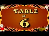 Learn 6x Table | Learn SIX Multiplication Tables For Kids | Fun And Learn Videos