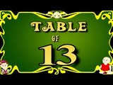 Learn 13x Table | Learn THIRTEEN Multiplication Tables For Kids | Fun And Learn Videos