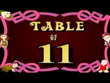 Learn Multiplication Table Of Eleven - 11 x 1 = 11 | 11 Times Tables | Fun & Learn Video for Kids