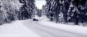 Impressive high speed snow drifting with Rally Car in Norway