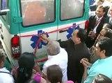 Gandhinagar Corporation ICU on WHEELS VAN launch by Nitin Patel & union minister