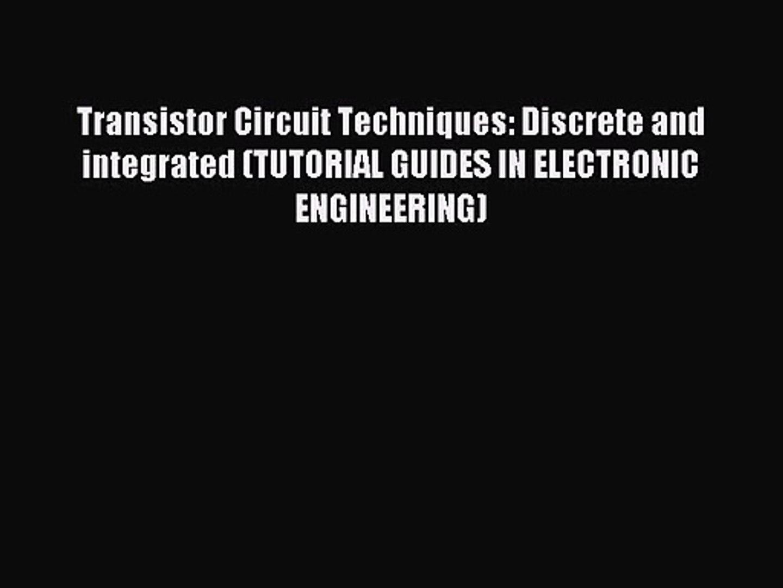 Integrated Circuit Tutorial