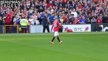 Darren Fletcher Has Words With Wayne Rooney After He Is Sent Off Against West Ham Fan Foot