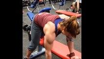Ashley's 17 inch Biceps