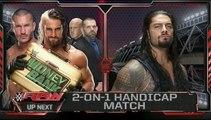 Roman Reigns vs. Randy Orton & Seth Rollins_ 2-on-1 Handicap Match_ WWE Raw