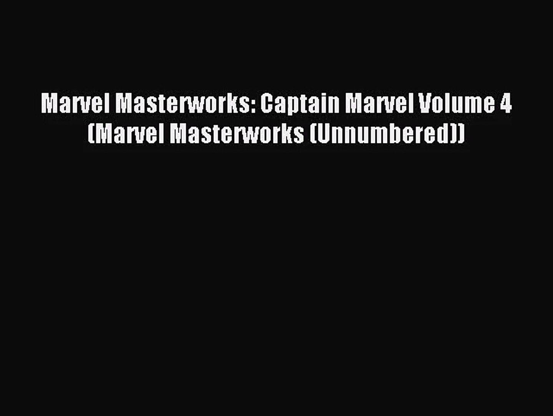[PDF Download] Marvel Masterworks: Captain Marvel Volume 4 (Marvel Masterworks (Unnumbered))