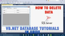 P(10) VB.NET Database Tutorial In Urdu - How to Delete Data