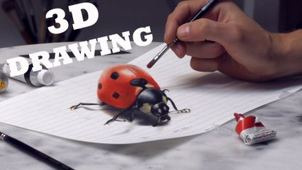3D DRAWING Optical Illusion /Speed Painting Trick Art