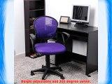 Royal Lifetree Girls Purple Chair Fabric Mesh Executive Adjustable Swivel Office Desk