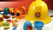 Sam le pompier   fireman sam toys and surprise eggs    Strażak Sam   firefighter story   Sam el bombero le pompier