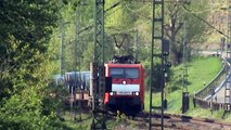 Züge zwischen Hammerstein und Leutesdorf, ÖBB 182, ERS 189, Dispolok 189,DB189,2x152,185,143,2x425
