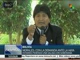 Morales: Con demanda en La Haya pedimos salida con soberanía