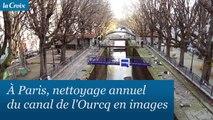 À Paris, nettoyage annuel du canal Saint-Martin en images