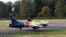 GIGANTIC RC FLIGHT SHOW 2X HAWKER HUNTER MK66 FLIGHT TO MUSIC / RC Airshow Hausen 2015