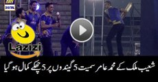 Shoaib Malik Hit 5 Sixes on 5 Balls in Karachi Kings Concert