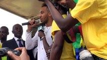 Aubameyang célébre son ballon d'or africain au Gabon