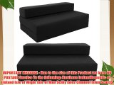 Gilda ? Double Sofa bed futon - Black Indoor/Outdoor Stain Resistant fabric
