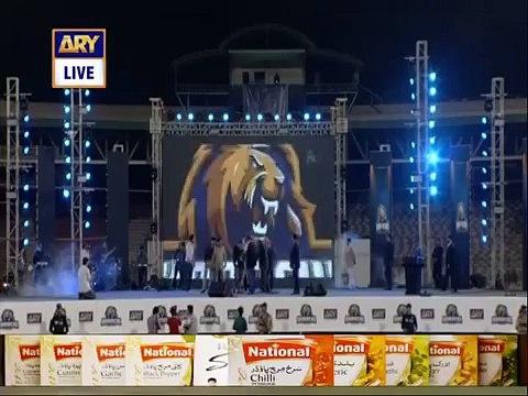 Governor Sindh Played Guitar on National Anthem of Pakistan in Karachi Kings Concert - PSL 2016