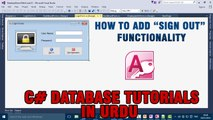 P(6) - C# Access Database Tutorials In Urdu - Sign Out Functionality