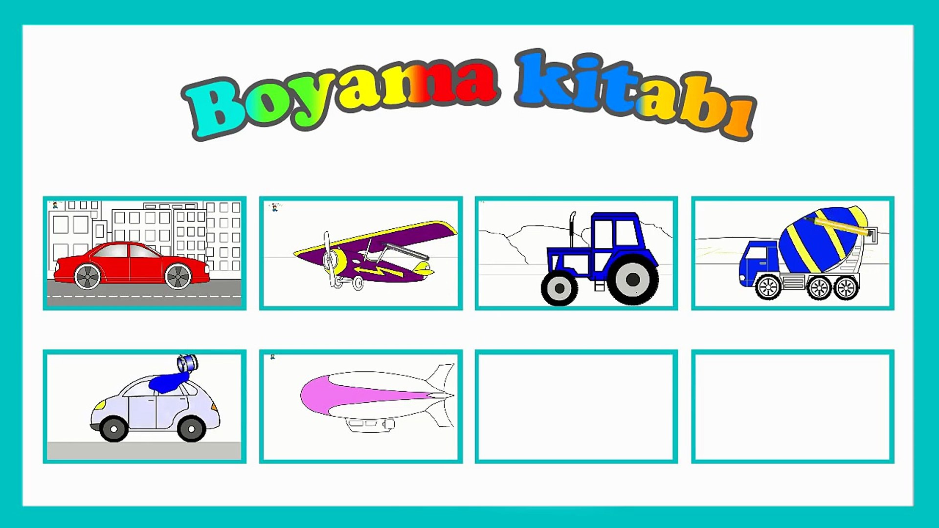 Egitici Cizgi Film Boyama Kitabi Traktor Dailymotion Video