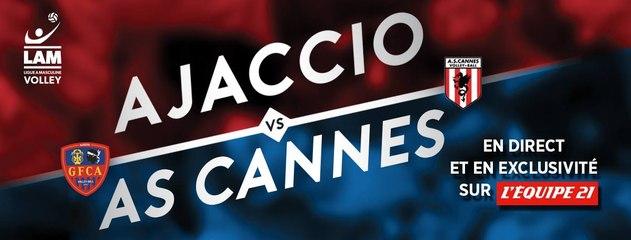 Ligue A 15/16' : Ajaccio - Cannes : Tous en rouge et bleu!