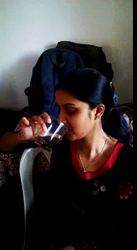 college girl drinking