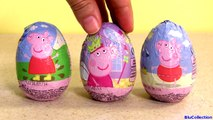 Peppa Pig Toy Surprise Eggs Nickelodeon Cartoon Chocolate Huevos Sorpresa with Princess Peppa