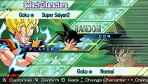 Dragonball Z Shin Budokai Another Road PSP : Character List