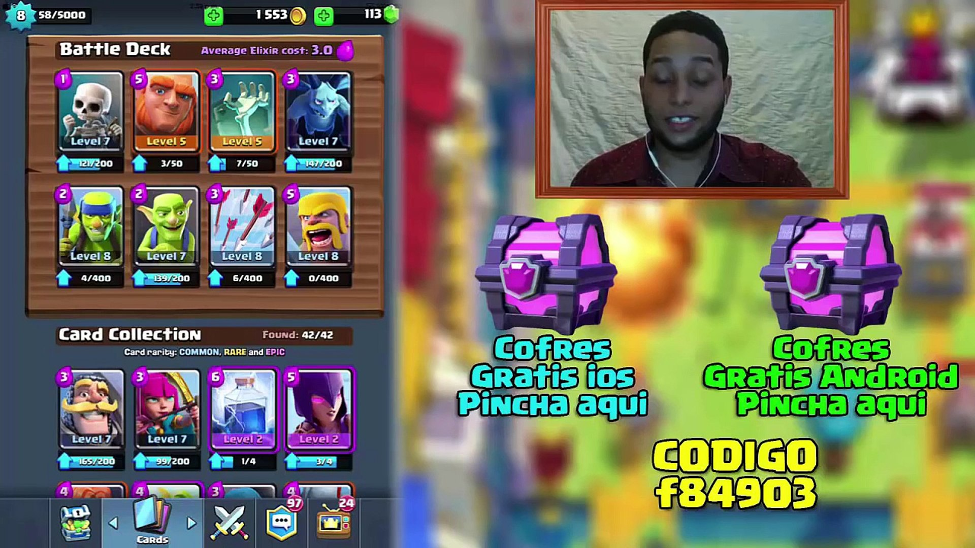 Mazo/Deck para Arena 3 Super Economico Clash Royale Para novatos Ios y Android #94