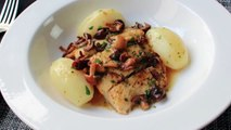 Pan Roasted Halibut with Mushrooms & Lemon Butter Sauce Fast & Easy Halibut Recipe