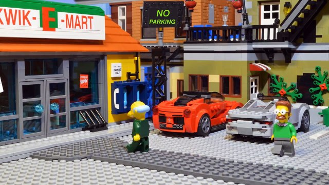 Lego Simpsons Shopping Movie. Homer Simpson in Kwik E Mart. Never eat Homer Simpsons Donuts.