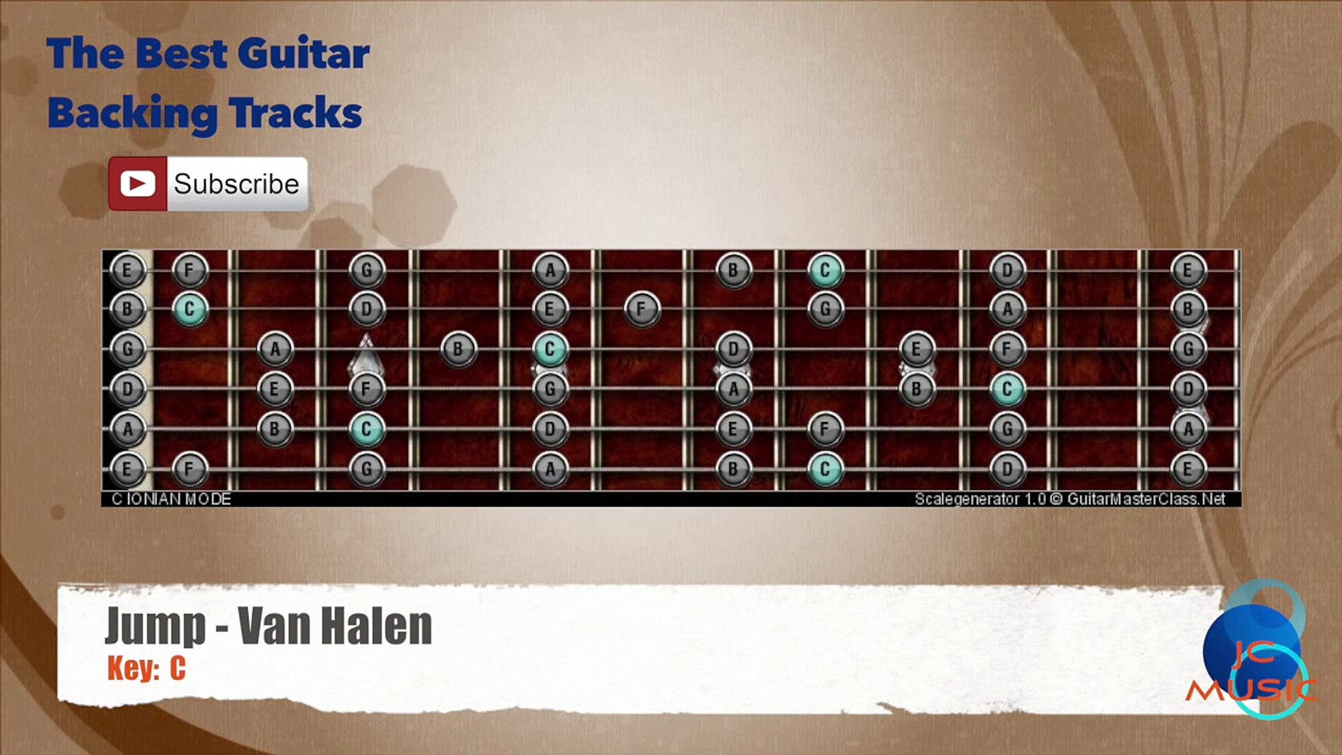 Jump Van Halen Guitar Backing Track With Scale Chart Video Dailymotion