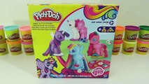 Play Doh My Little Pony MLP Make N Style Ponies Playset Pinkie Pie Rainbow Dash Twilight Sparkle!