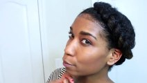 Twisted Knot Protective Style Natural Hair | Winter + Summer Workout Hairstyle - Naptural85