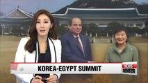 President Park holds summit talks with Egyptian president El-Sisi