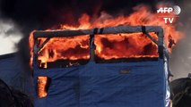 Fires break out in Calais 'Jungle' migrant camp