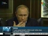 Putin califica de tontas y nocivas las sanciones de Europa a Rusia