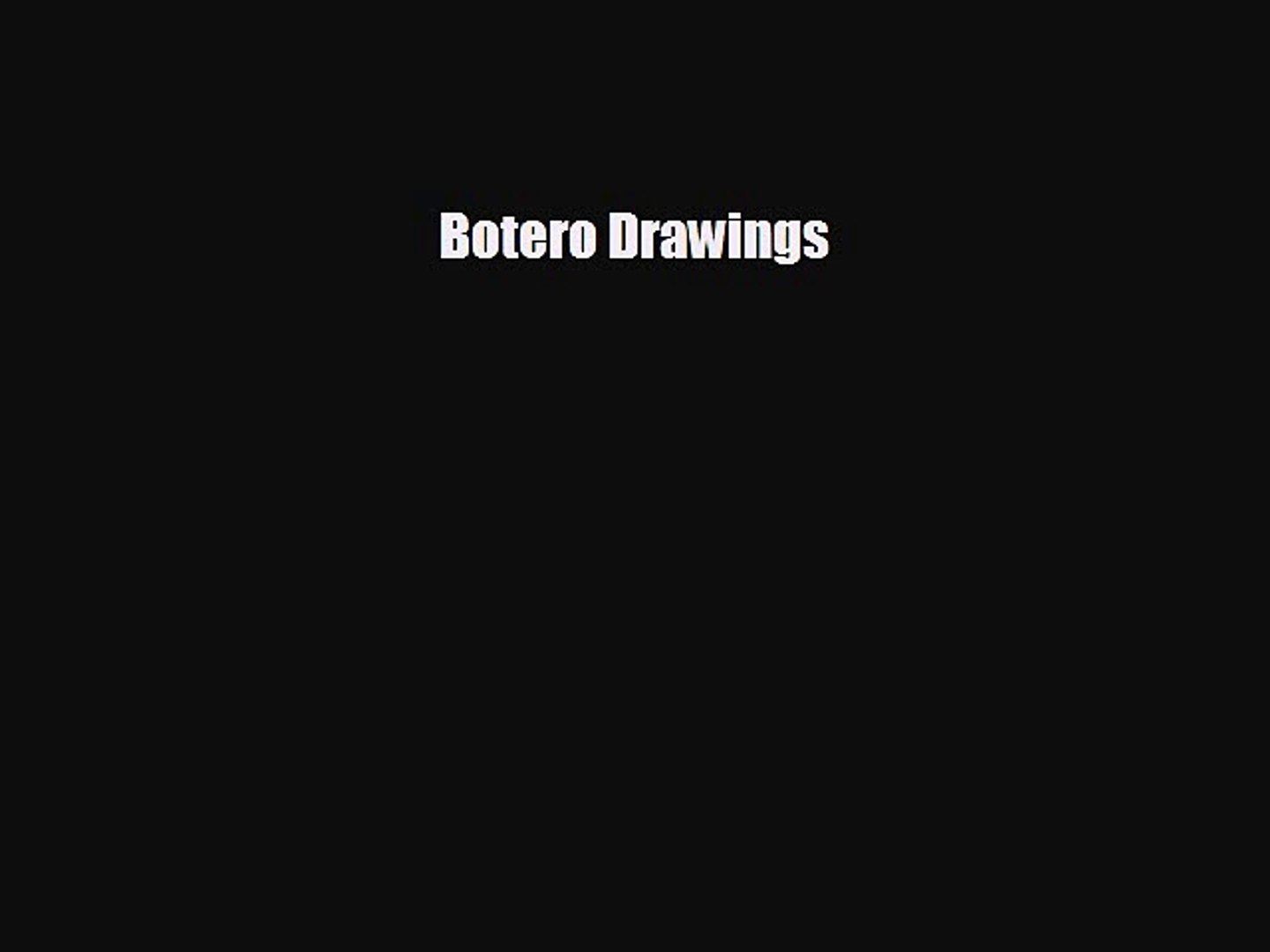 [PDF Download] Botero Drawings [PDF] Full Ebook