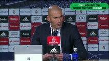 Zinedine Zidane  en rueda de prensa tras la victoria frente al Deportivo 5-0 (Latest Sport)