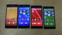 Sony Xperia Z3+ vs. Sony Xperia Z2 vs. Sony Xperia Z1 vs. Sony Xperia Z - Benchmark Speed Test (4K)