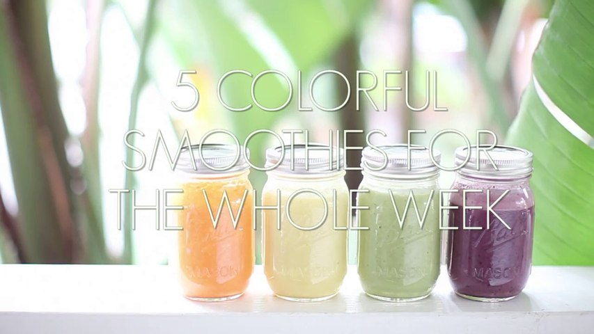 5 Colorful Smoothies for The Whole Week
