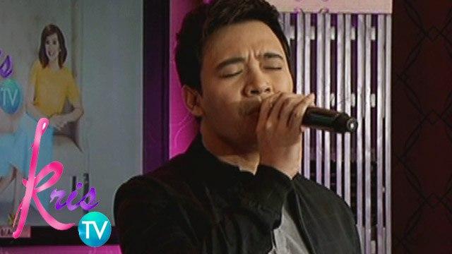 Kris TV: Erik sings 'Tandaan Mo 'To'