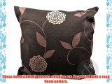 FLORAL PENCIL PLEAT Curtains Living Room Bedroom Ready Made Fully Lined Curtain Chocolate (
