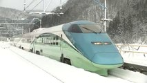 High Speed Bullet Train and Deep Snow Falling- Japan - video