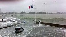 en aperçu de la tempête en Bretagne sud !!!