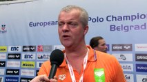 Interviews after Netherlands won by 6:5 against Slovakia – Men Preliminary, Belgrade 2016 European Championships