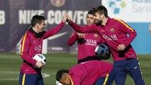 FC Barcelona training session: Last session before Copa del Rey derbi